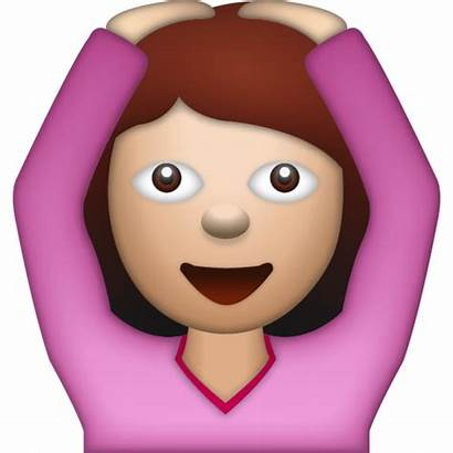 Emoji Yes Woman Saying Emojis Emoticon Arms