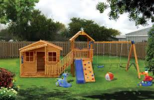 Cubby House with Swing Set