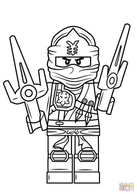 lego ninjago jay zx coloring page  printable