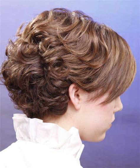 short brown curly hair