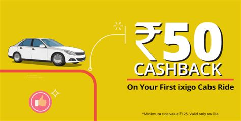 Get Rs.50/- Cashback On Your First Cabride