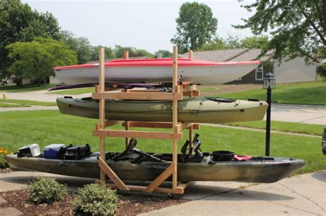 how to make a kayak rack diy custom modifications archives paddle fishing