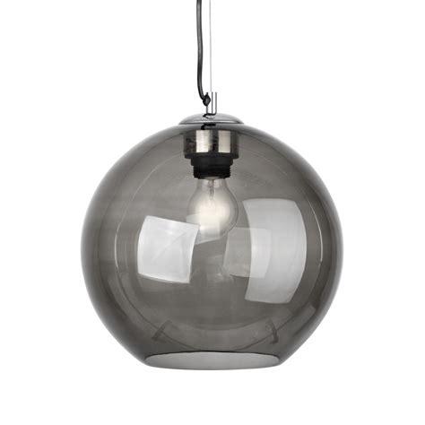 contemporary chrome grey smoked glass ceiling light