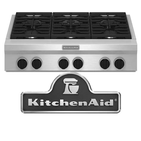 gas cooktops dcs   professional  burner propane gas cooktop  kitchenaid