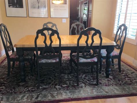 solid wood butcher block country kitchen dining room table