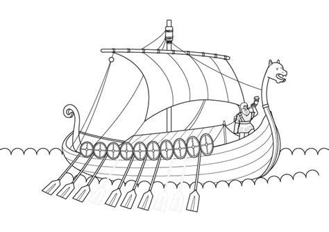 Barco Vikingo Animado by Drakkar Vikingo Dibujo Para Colorear E Imprimir