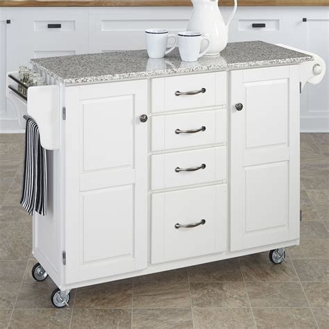 granite top kitchen island home styles create a cart kitchen island with granite top