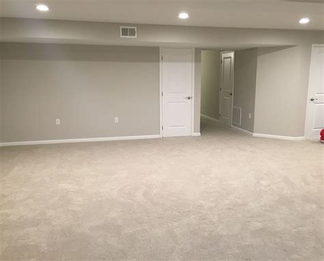 Finished Basement Remodel Project Walls Painted With