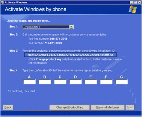 how to activate your phone activating your license of windows xp required or it