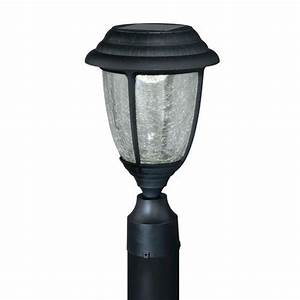 Abra led quot black solar outdoor post light at menards?