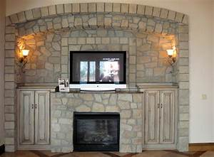 Faux Stone Fireplace Panels Stacked Stone Installation