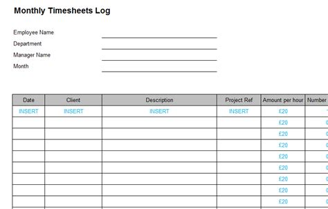 Hourly Log Sheet Template Timesheets Payslips Bizorb