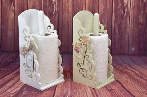 shabby chic towel holder vintage shabby chic wooden kitchen towel paper holder roll dispenser white beige ebay
