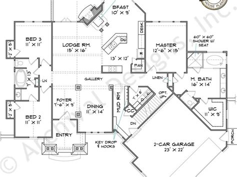 decor ranch house plans with walkout basement sq ft home