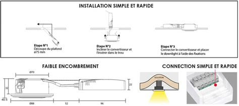 installation spot led plafond spot downlight ip44 actualit 233 cef yesss 201 lectrique
