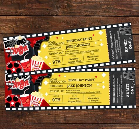 ticket birthday invitation  party invitation