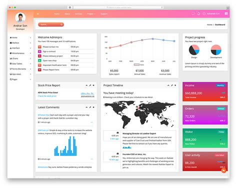 dashboard templates  admins  colorlib