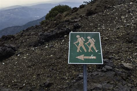 Signpost Giving Directions To Different Ski Slopes Editorial 3 Great Trails In Troodos Mountains Trip Trail