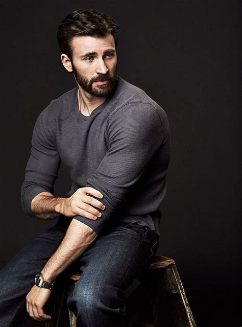 chris evans beard    hairstyle camp