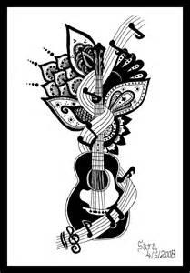 Guitar Music Note Tattoo Designs