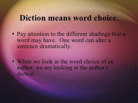 diction in sentence