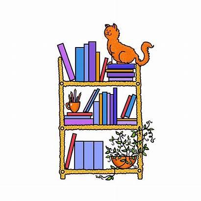 Clipart Shelf Shelves Librarian Shelve Library Transparent