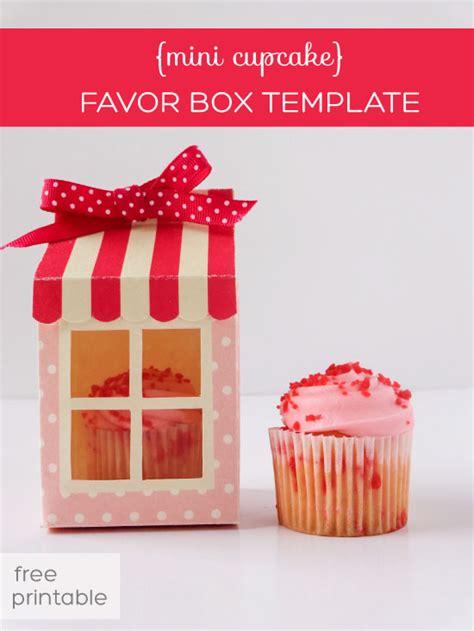 mini cupcake box  printable