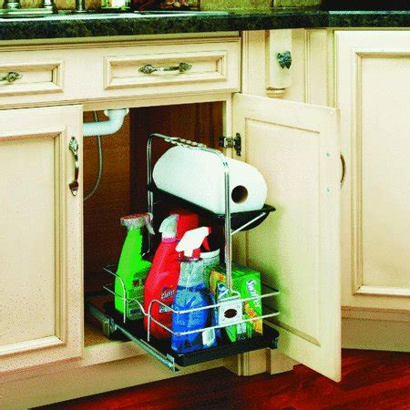 pull out walmart rev a shelf undersink pull out removable cabinet organizer