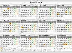 Kalender 2014 zum Ausdrucken kostenlos