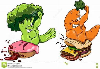 Healthy Fast Broccoli Carrots Donut Burger Competition