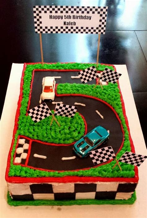 number  race track cake race track cake cars