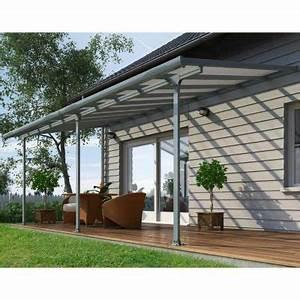 Pergola Bioclimatique Castorama : toit couv 39 terrasse 3 x 7 m gris castorama ~ Melissatoandfro.com Idées de Décoration
