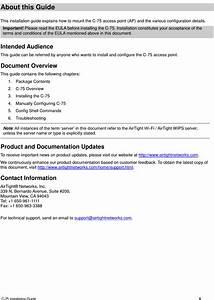 Arista Networks C75 Airtight Access Point User Manual C 75
