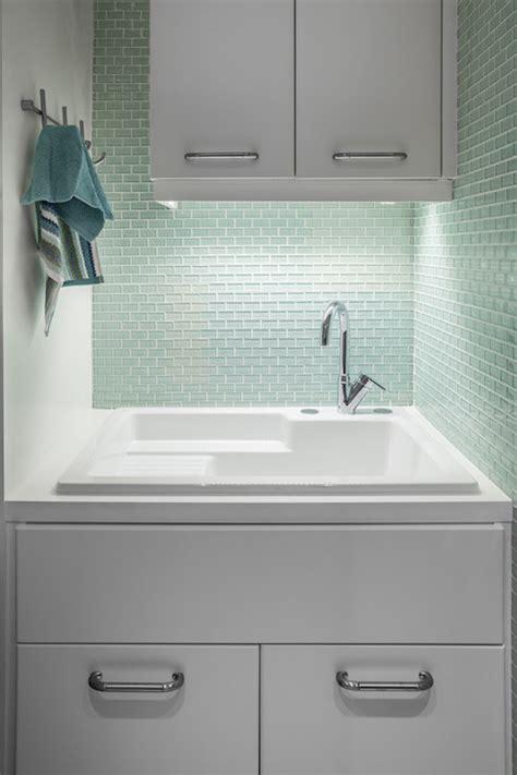 Green Brick Backsplash Tiles Design Ideas