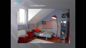 Deco Chambre Ado Garcon : d co chambre ado gar on drapeau usa youtube ~ Teatrodelosmanantiales.com Idées de Décoration