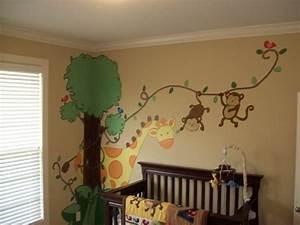 Ideen Für Kinderzimmer Wandgestaltung : ideen wandgestaltung mit farbe handgemalte motive ~ Lizthompson.info Haus und Dekorationen