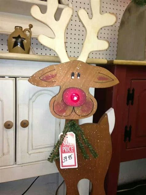 cute tall wood craft reindeer crafts christmas