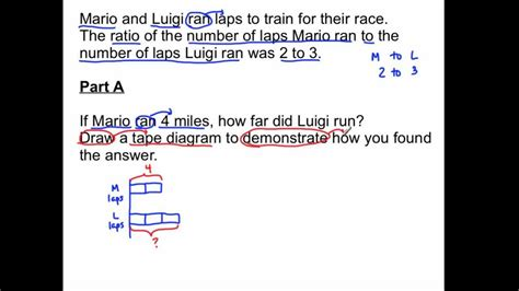rp equivalent ratios  tape diagrams youtube