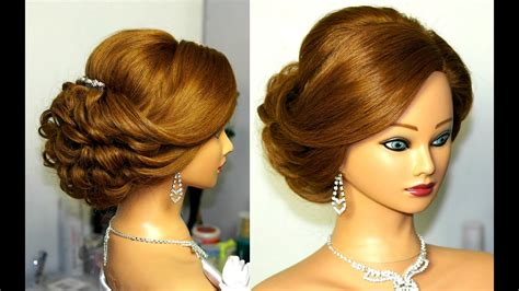 bridal updo romantic hairstyle  medium hair youtube