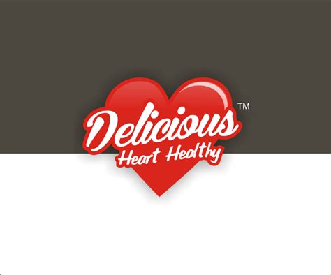They come in various shapes, sizes, patterns, and styles. Delicious Heart Healthy Company Logo/Food Label | Logo ...