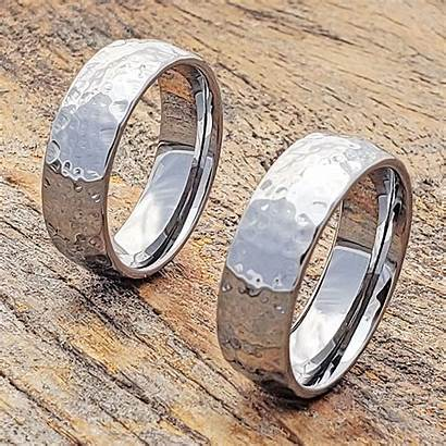 Hammered Rings Polished Ultra Ring Tungsten Forevermetals