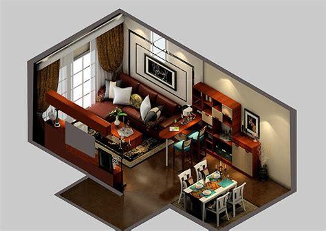 Bar Ideas For Living Room : Modern Living Dining Room And Bar Design 3d View, Bar