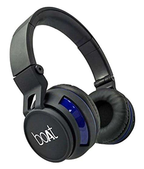 Boat Earphones by Boat Rockerz 350 Wireless Bluetooth Headphone Black