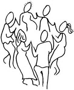 Line Drawings of People Dancing