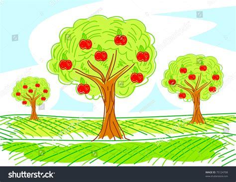apple orchard illustration apple orchard stock vector illustration 75124708