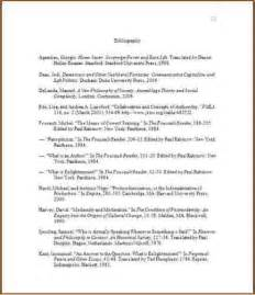 Chicago Style Bibliography Sample