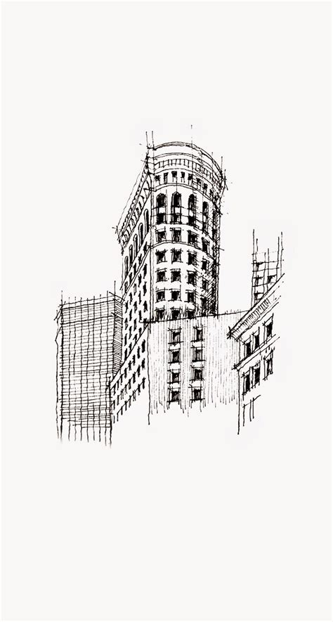 flatiron building nyc sketch iphone   hd wallpaper hd