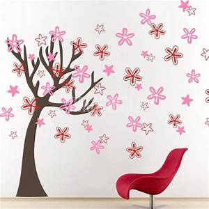 beautiful flowers tree wall decals graphics stickers With beautiful flower decals for walls