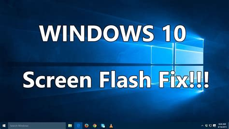 fix screen flashing  flickering  windows