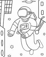 Astronaut Coloring Pages Space Printable Sheets Cool2bkids Cosmonaut Adults Drawings Repairs Makes Children Spaceman Preschool Astronauts Getcoloringpages Outer Moon sketch template